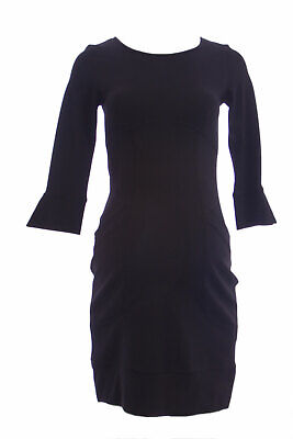 OLIAN Maternity Women's Black Lined Bodice 3/4 Sleeve Pullover Dress XS $148 NWT