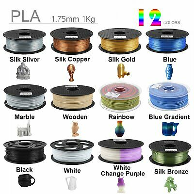 3D Printer Real Wood PLA Filament 1KG 1.75mm Silk Gold Cleaning for FDM Printer