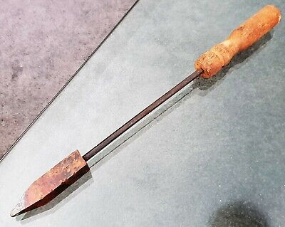 Vintage Old No 8 Hand Copper tip Soldering Iron Antique Hand Tool