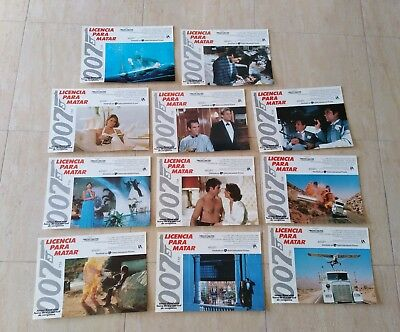 James Bond licence to kill lobby cards Spanish