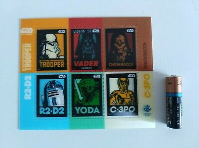 stamp star wars made in spain 2017