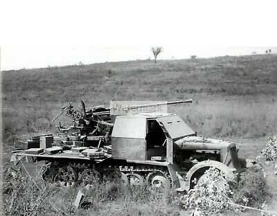 WWII POSITION OF the German 20-mm anti-aircraft gun FlaK 38
