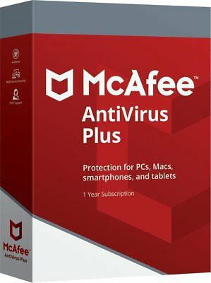 McAfee 2019 AntiVirus Plus UNLIMITED Devices 1 Year for PC Mac Android