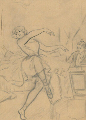Mid 20th Century Graphite Drawing - The Dancer