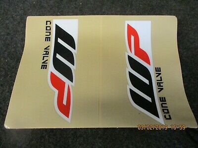 Universal WP Cone Valve front fork upper graphic decal set motocross mx SH019