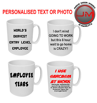 CUSTOM MUG PERSONALISED TEXT PHOTO His Hers Valentines Easter Christmas Gift