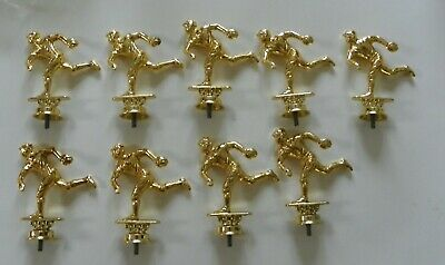 9 Gold Metal Baseball Player  Pitcher Trophy Toppers Hood Ornament Lot