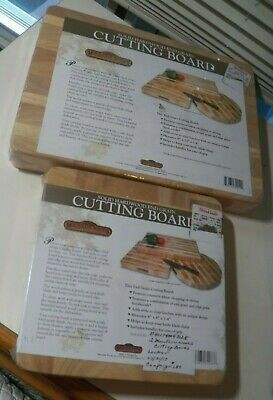 2 Brand New Mountain Woods Solid Hardwood End Grain Wood Cutting Carving Boards