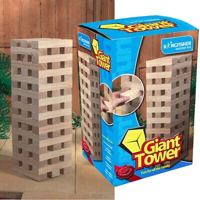 Giant Jenga Tower Wooden Blocks Outdoor Family Garden Game Kids Fun Large