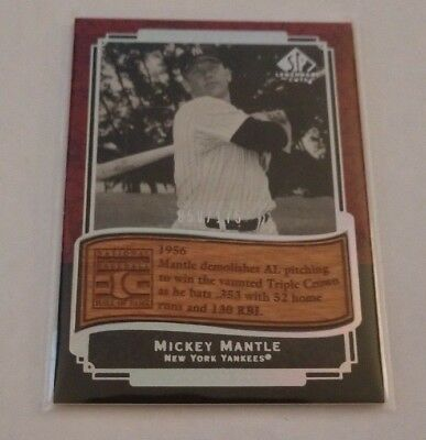 Mickey Mantle - 2003 Sp Legendary Cuts - Etched In Time - #Et-Mm - #50/175 -