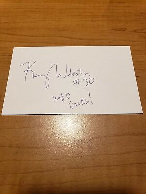 Kenny Wheaton - Football - Autograph Signed - Index Card - Authentic- A6274