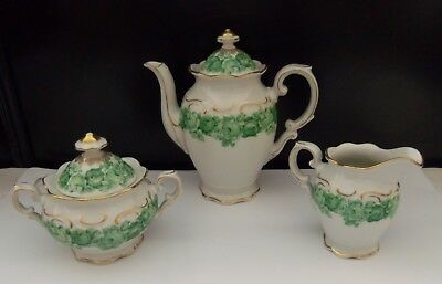 Beautiful SCHUMANN ARZBERG GERMANY Emerald Rose 3 PC Set