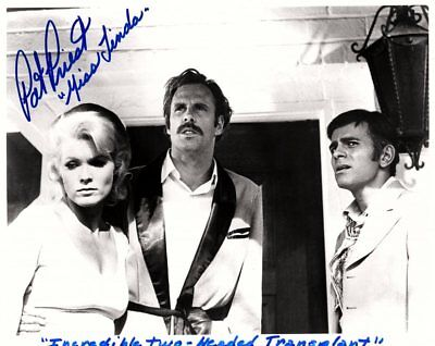 Pat Priest Signed Autographed B&W 8x10-Munsters-Two-Headed Transplant