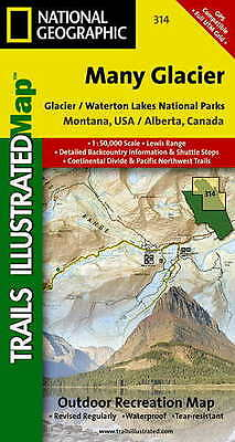 Trails Illustrated Many Glacier: Glacier and Waterton Lakes National Parks