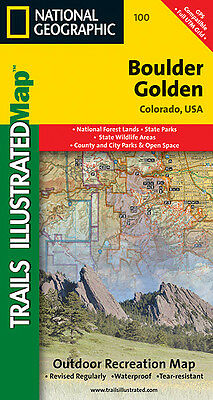 National Geographic Trails Illustrated Map: Boulder, Golden, Colorado,
