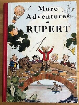 RUPERT BEAR ANNUAL ORIGINAL 1937 Small blemish front cover Inscribed Exceptional