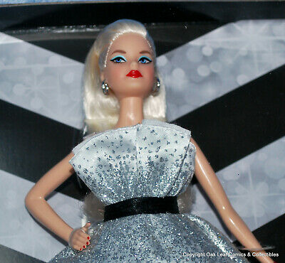 Barbie 60th Anniversary Doll Blonde Diamond Inspired Accents in Box NRFB!