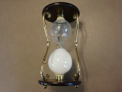 GLASS WHITE SAND Timer Hourglass, Heart Shape – 30 Minutes