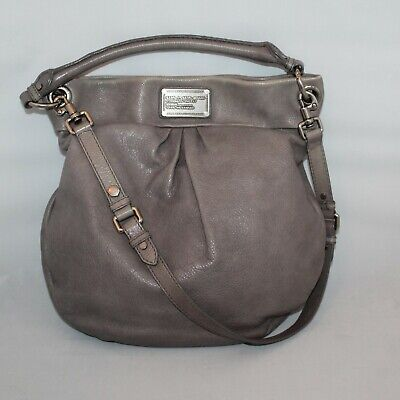 d57b22768d6 Marc by Marc Jacobs Classic Q Hillier Grey Pebbled Leather Hobo Shoulder Bag