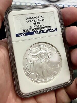 2010 $1 American Silver Eagle NGC MS70 Early Releases