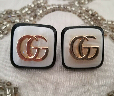 90aa2fd166d GUCCI GG MOTHER Of Pearl Stud Earrings -  29.00