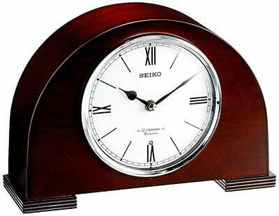 NEW Seiko Kete Cherry Wood Wooden Case Chiming Mantel Clock QXW239BLH 12 Melody