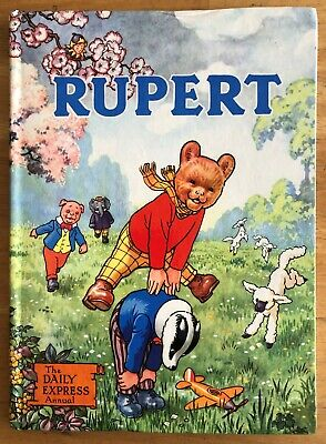 RUPERT BEAR ANNUAL 1958 ORIGINAL NOT Inscribed NOT Price Clipped Painting Undone