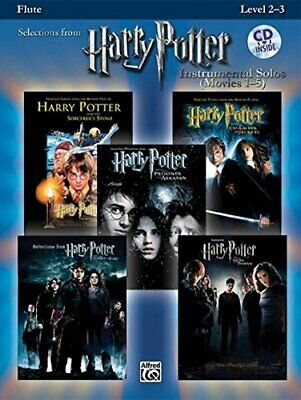 Harry Potter Instrumental Solos (Movies 1-5): Flute Book & CD (Pop Instrument…