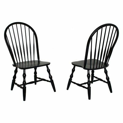 Sunset Trading Sunset Selections Windsor Spindleback Dining Chair in - Set of 2,