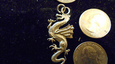 bling pewter myth legend stonehenge pagan dragon pendant charm necklace jewelry