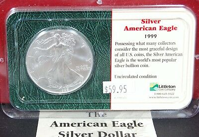 1999 Silver American Eagle BU 1 oz Coin US $1 Dollar Brilliant Uncirculated Pack