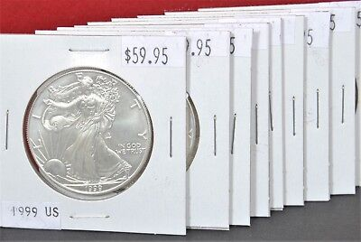 1999 Silver American Eagle BU 1 oz Coin US $1 Dollar Mint Uncirculated Flip Pack