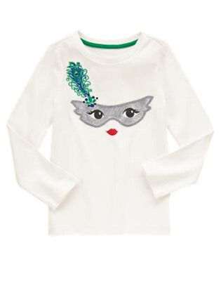 NWT Gymboree Wild for Horses Long Sleeve Ivory sparkly Top shirt Sz: 3