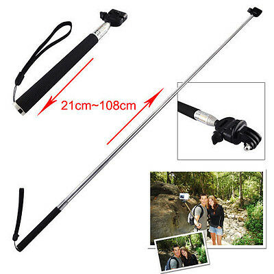 JT_ Extendable Handheld Monopod Tripod Mount For GoPro Hero 4 3+ 3 2 1 Intrigu