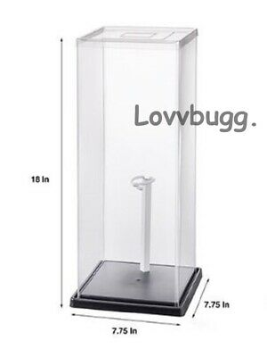 "2 x Display Case For Doll Or Collectibles(18"" X 7-3/4"" X 7-3/4"" ) 2 Free Stand s"