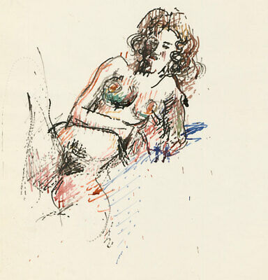 Peter Collins ARCA - c.1970s Watercolour, Nude Female Figure
