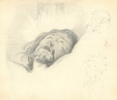 George Willoughby Maynard NA (1843-1923) - Graphite Drawing, Study of Christ