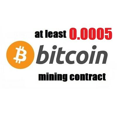 at least 0.0005 Bitcoin (BTC) 3 hours Cryptocurrency mining contract