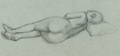 Peter Collins ARCA - c.1970s Graphite Drawing, Sleeping Female Nude