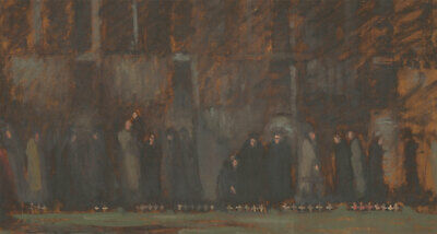 Frances Watt - Mid 20th Century Oil, Field of Remembrance, Westminster Abbey
