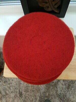 "5 Pack Of Red 15"" Floor Buffer Pads"