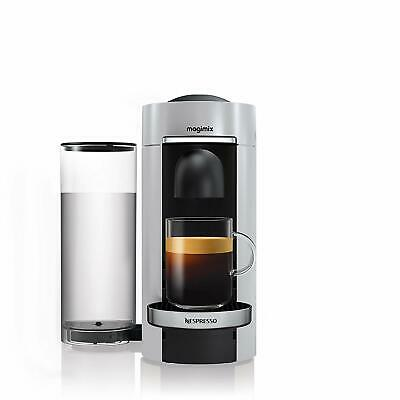 NESPRESSO - Vertuo Plus Silver by MAGIMIX Coffee Pod Capsule Espresso Machine