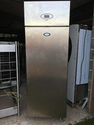 Foster Single Door Upright Fridge Refrigerator Stainless Steel Shelves