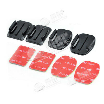 2 Flat/2 Curved(4pcs) Mount Quick Release 3M Adhesive Pads for Gopro Hero Camera