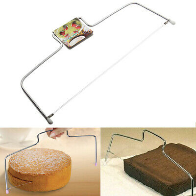 Mofun Adjustable Decorating Cake Slicer Cutter Leveller Bread Wire Decor UK Tool