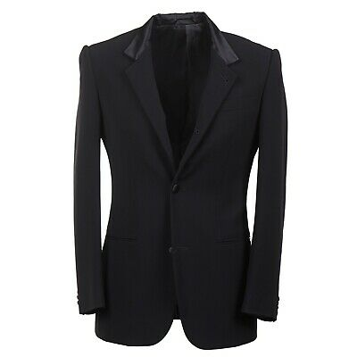 NWT $2650 ARMANI BLACK LABEL Satin-Trimmed Tuxedo Blazer Slim 38 R Sport Coat