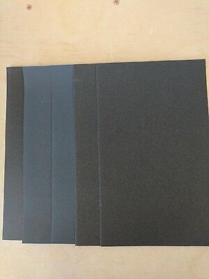 "Sandpaper 5 1/2"" x 9"" Combo WET OR DRY  1500 2000 2500 3000 5000 grits 5 pc."