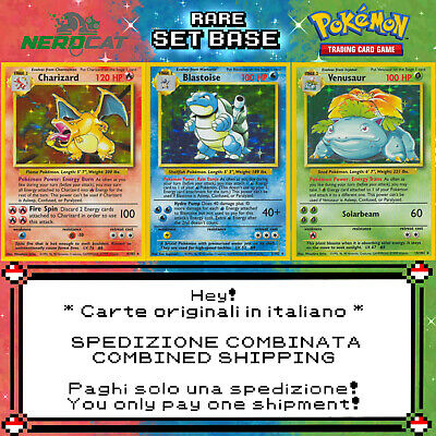 🍀Carte Pokémon RARE SET BASE lotto Pokemon Spedizione combinata🍀