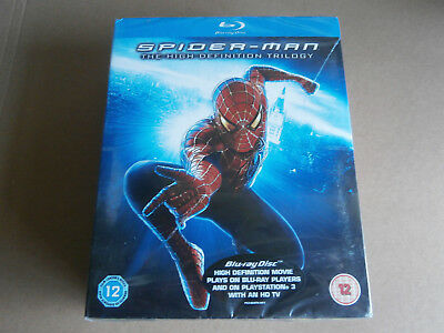Spider-Man The High Definition Trilogy Blu-Ray 2007 3 Disc Box Set New Sealed