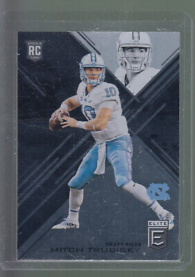a63ed3f915a 2017 SCORE 2017 Draft #1 Mitch Trubisky Rc Unc Bears Rookie Card ...